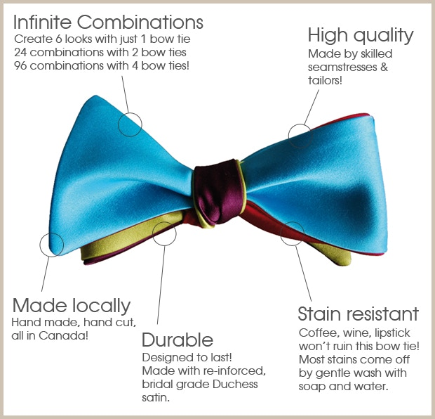 The bow tie above is made with two bow ties: Red/Aqua and Merlot/Citrus!