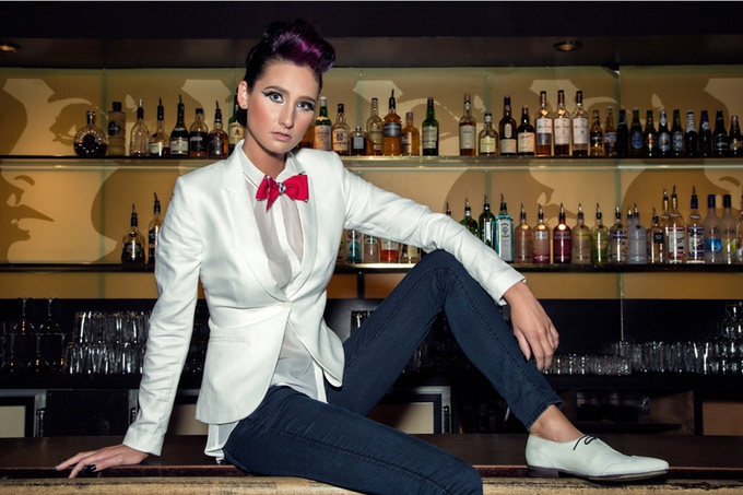 Women look fierce in bow ties too. Photo by Machuca Photography.