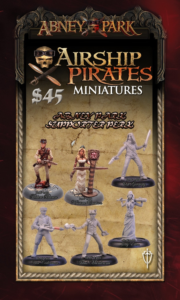 Abney Park Supporter Perk - all miniatures are shipped unpainted 32mm metal miniatures