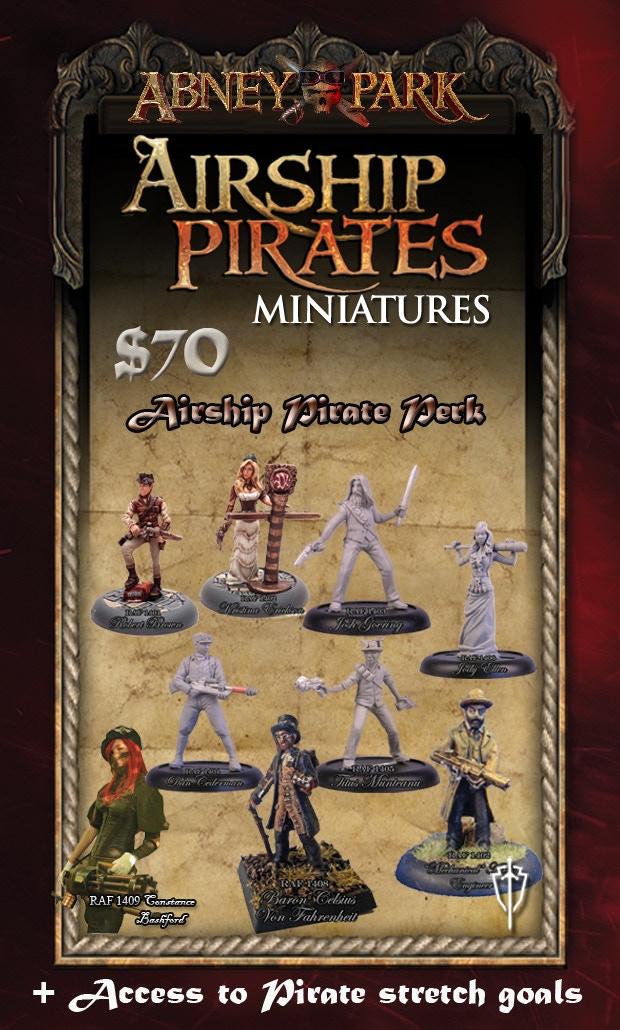 Airship Pirate Perk - All miniatures are Unpainted 32mm metal miniatures