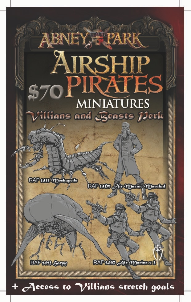 Villains and Beasts Perk - All miniatures are shipped unpainted 32mm metal miniatures