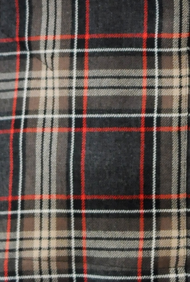 Modern Brown Plaid fabric