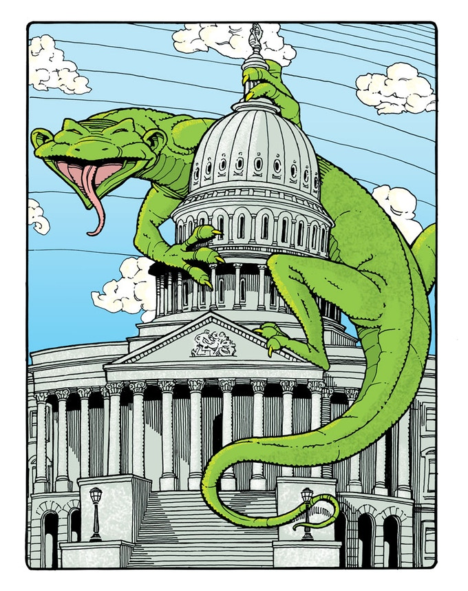 L is for LIZARD. As predicted in hidden Biblical Codes, Obama is actually the Great LIZARD Overlord.