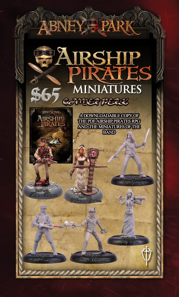 Gamer Perk - get the rulebook and the band! All miniatures are shipped unpainted 32mm metal miniatures.