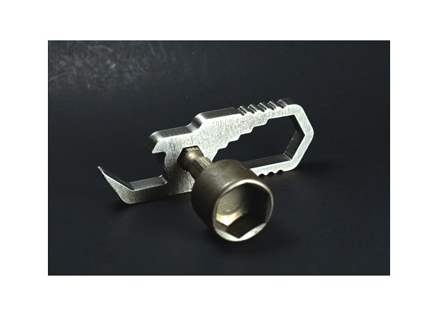 """Pocket Wrench - Fits Sockets and Bits... (1/2"""" socket pictured above)"""