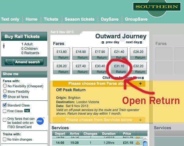 example train ticket prices