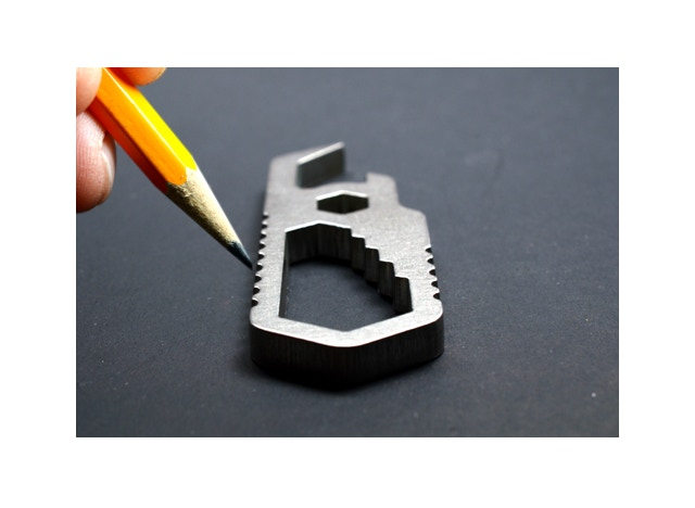 """Pocket Wrench - Finger Grips Dub as 1"""" Ruler... (1/8"""" spacing between nubs)"""