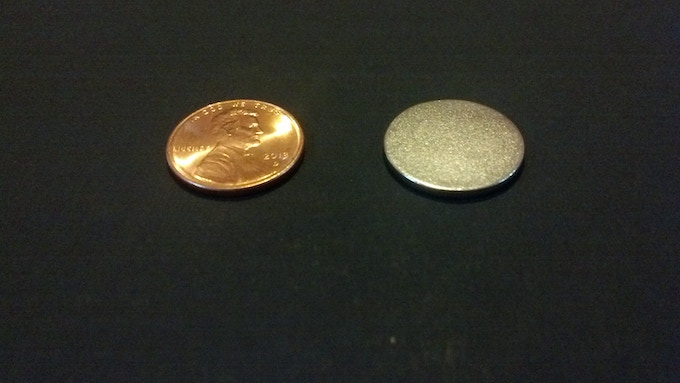 1/16 X 3/4 inch metal disk