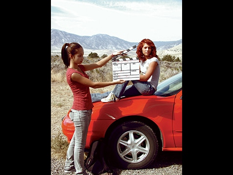 "From the set of ""Secrets if the Desert Nymph"" (from left to right: Shaylin Segura, Talice Gadwill)"