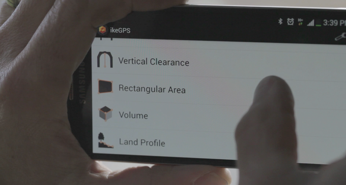 Spike app: Select a measurement