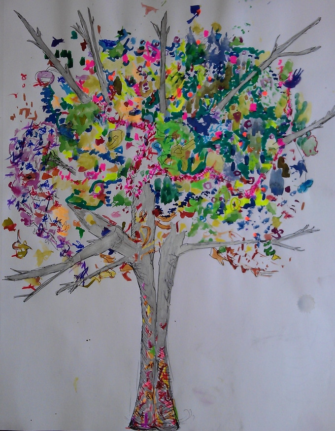Sketch of tree to be installed and decorated