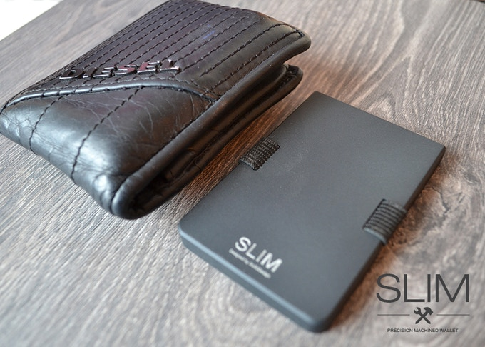Super slim in comparison to a normal wallet