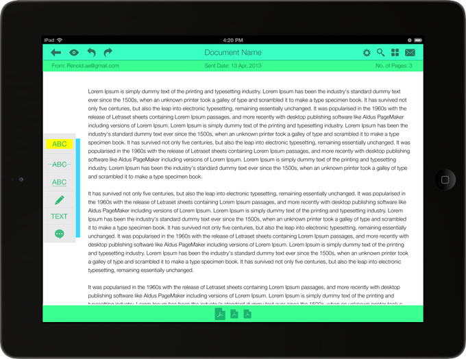 Teachers can edit the document directly in ReMarkable with the wide range of marking tools.