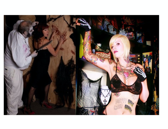 Living Dead Magazine creators Deanna Uutela & Lauren Jewels started out as horror models & horror writers before creating Living Dead Magazine.