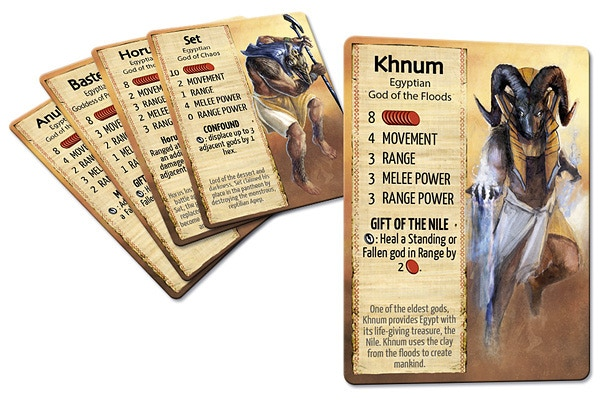 Cards from the Egyptian Pantheon deck.