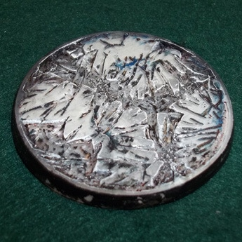 New 60mm Base with White and Silver Under-painting and Detail Top Painting