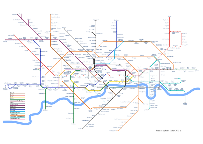 London Layout Tube map