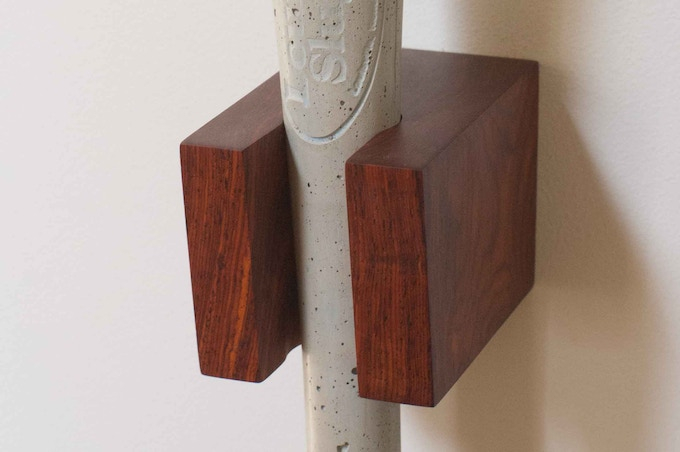 Beau Hand Cast And Finished Concrete Bat Sculpture Hang It On The Wall Up Your Coat Hat Ward Off Intruders Flex Offs