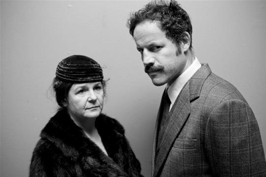 Peta Taylor as Mrs Ellis and Duncan Henderson as Gus Derbyshire