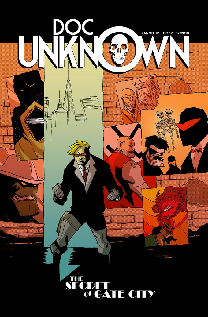 DOC UNKNOWN Trade Paperback! See where it all started with the collected edition of the four issue Doc Unknown mini-series, featuring the first appearance of BOSS SNAKE!