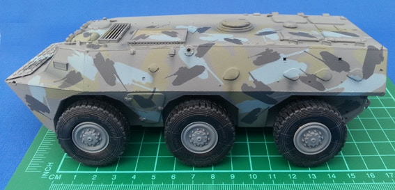 Build up layers of tanks to create a fun camo scheme.