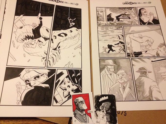 ORIGINAL ART REWARDS! Original pages, sketch cards and even COVERS!