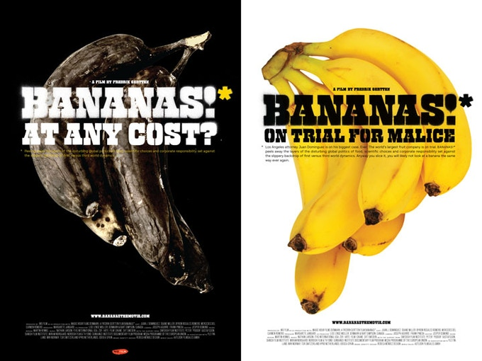 BANANAS!* posters, designed by Rebeca Mendez