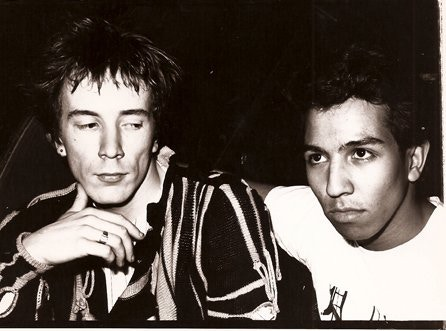 Johnny Rotten and Michael Alago