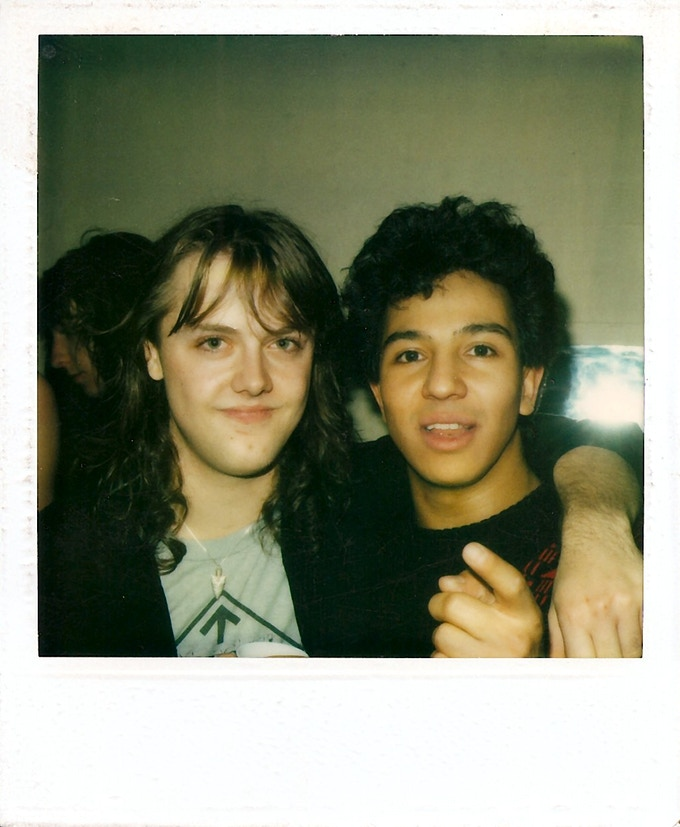 Lars Ulrich and Michael Alago