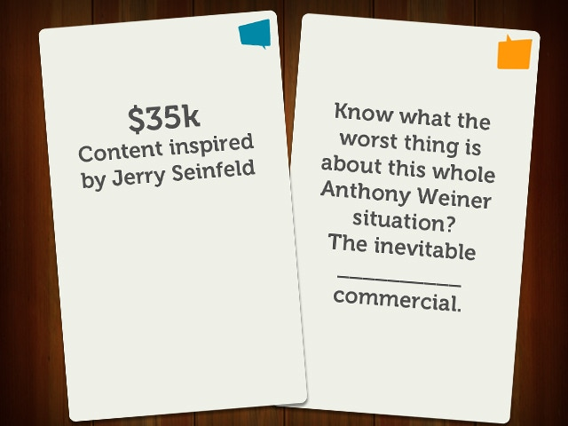 $35k Content inspired by Jerry Seinfeld