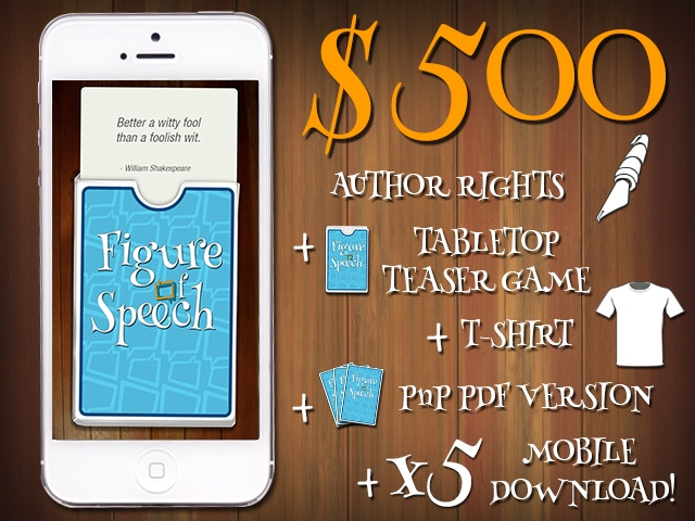 $500 - AUTHOR RIGHTS + TABLETOP TEASER GAME + T-SHIRT + PnP PDF VERSION + 5 MOBILE