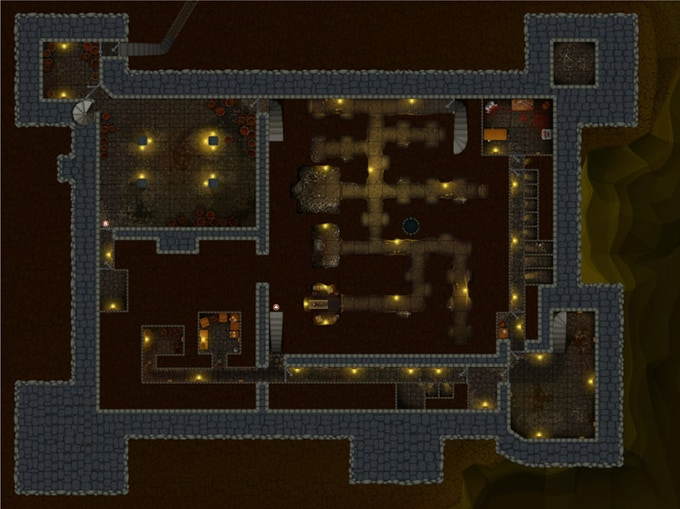 The subterranean level of Castle Ravenstein
