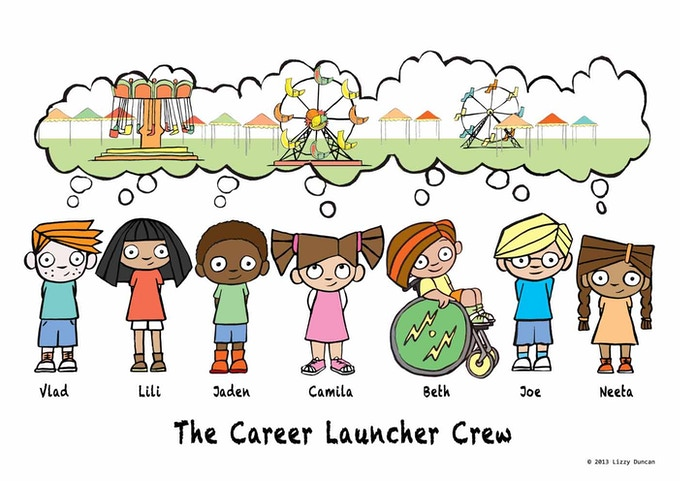 The kids of the Career Launcher Crew!