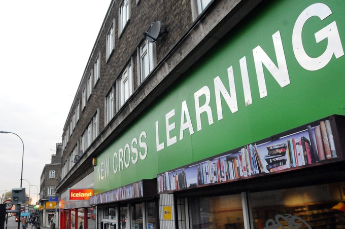 The new shopfront for New Cross Learning