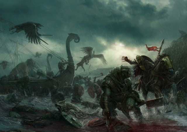 The amazing Darklands: First Edition cover artwork by Stefan Kopinski. Click on the image for a larger version!