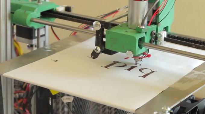 Our chocolate 3d printer prototype