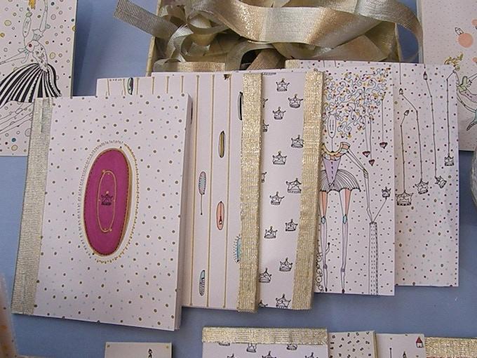 Set of handmade notebooks