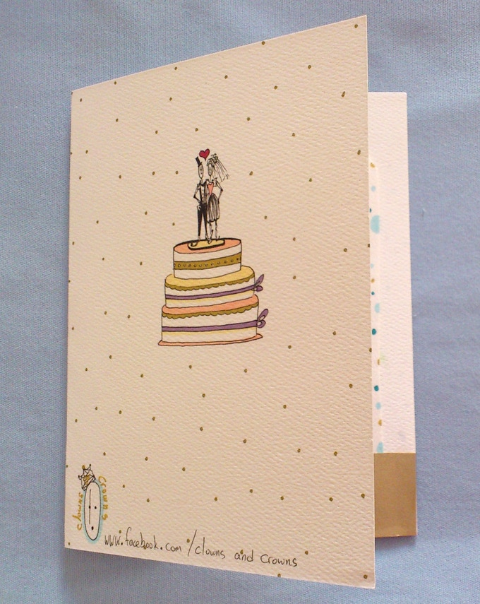 Back of greeting card