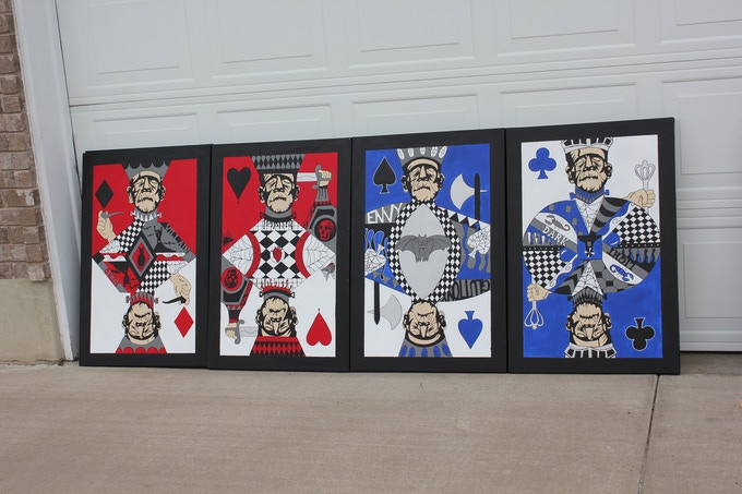 The Kings side by side, my favorite! each painting is 2 x 3 foot.