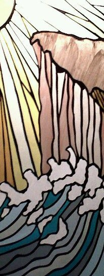 """Panel from """"The Story of Creation"""" Lampshade"""