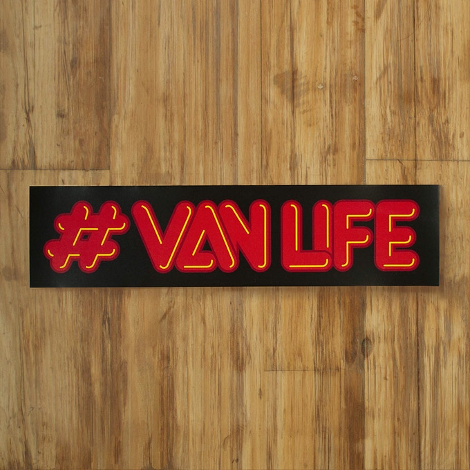 """Neon #vanlife, Available in 10"""" and 3"""" wide"""