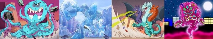Crush, Crystal, Dragon, Magic