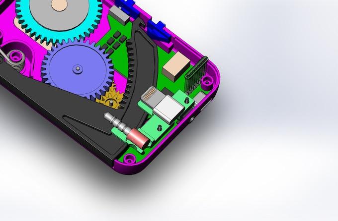 CAD image of electronics