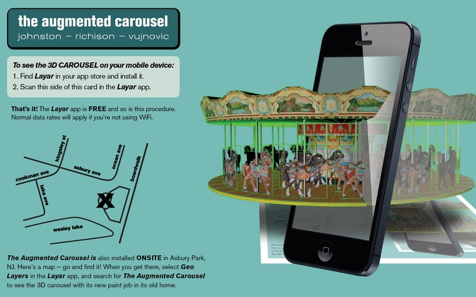 This card is augmented. Download this image, follow the instructions, and you can have your own augmented carousel for FREE!