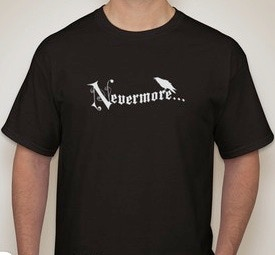 A mock up for the t-shirt - the logo will be gold