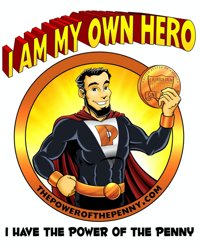 I Am My Own Hero T-shirt Design