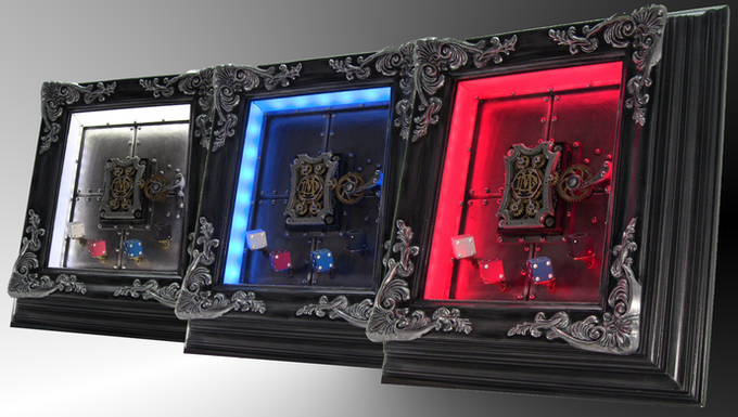 The metal card frame comes standard in 110V. Can be modified to Euro 220V.