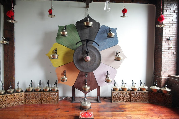 $250.00 Reward: A visit to collaborating artist Aaron Taylor Kuffner's beautiful studio and a demonstration of his incredible robotic Gamelatron orchestra.