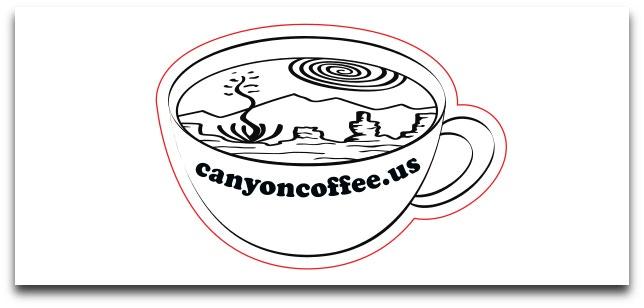 Canyon Coffee Die Cut Sticker