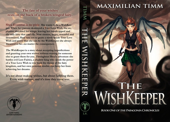 Official Book Cover (back and front) of The WishKeeper